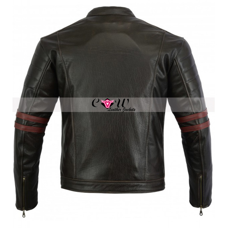 Cafe Racer Perfect Leather Motorcycle Jacket