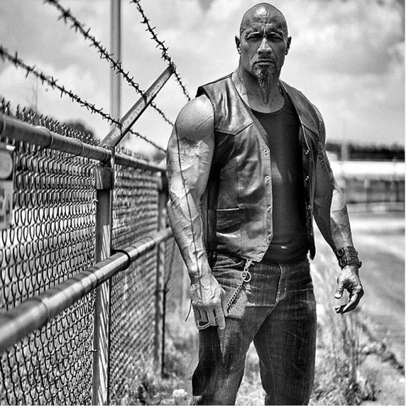 Fate Of The Furious Dwayne Johnson (Rock) Black Leather Vest