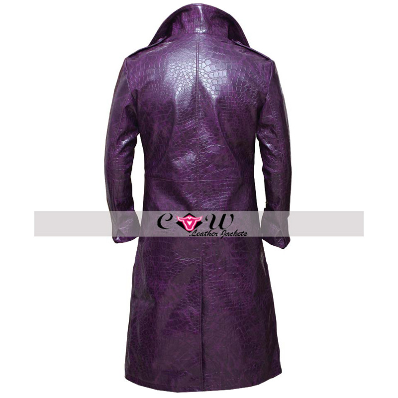 Jared Leto Joker Faux Leather Coat
