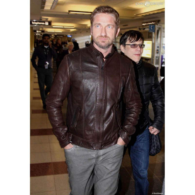 Olympus Has Fallen Gerard Butler Brown Jacket