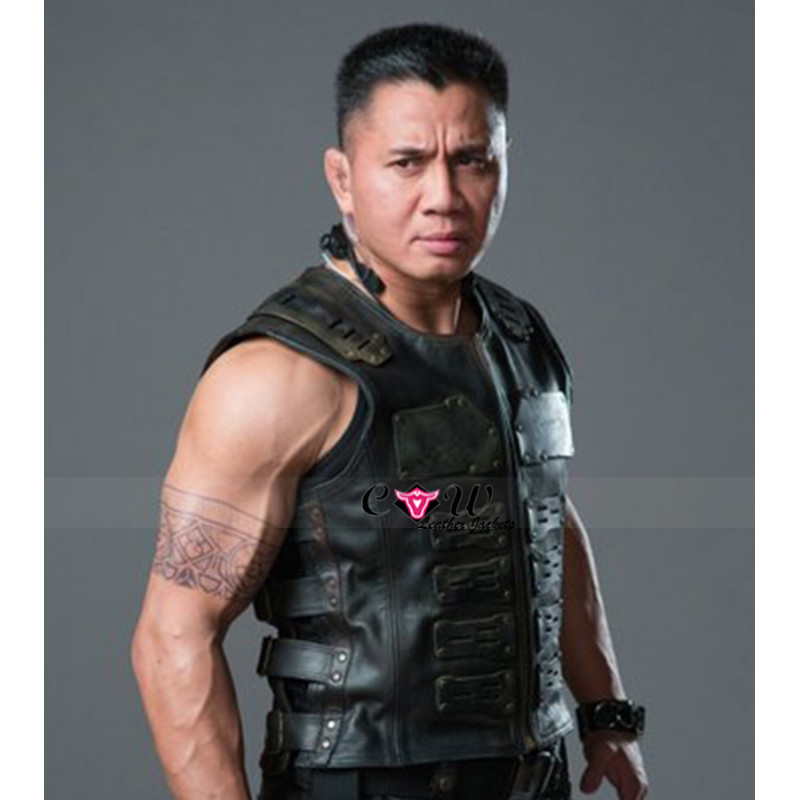 Security Movie Cung Le Leather Vest