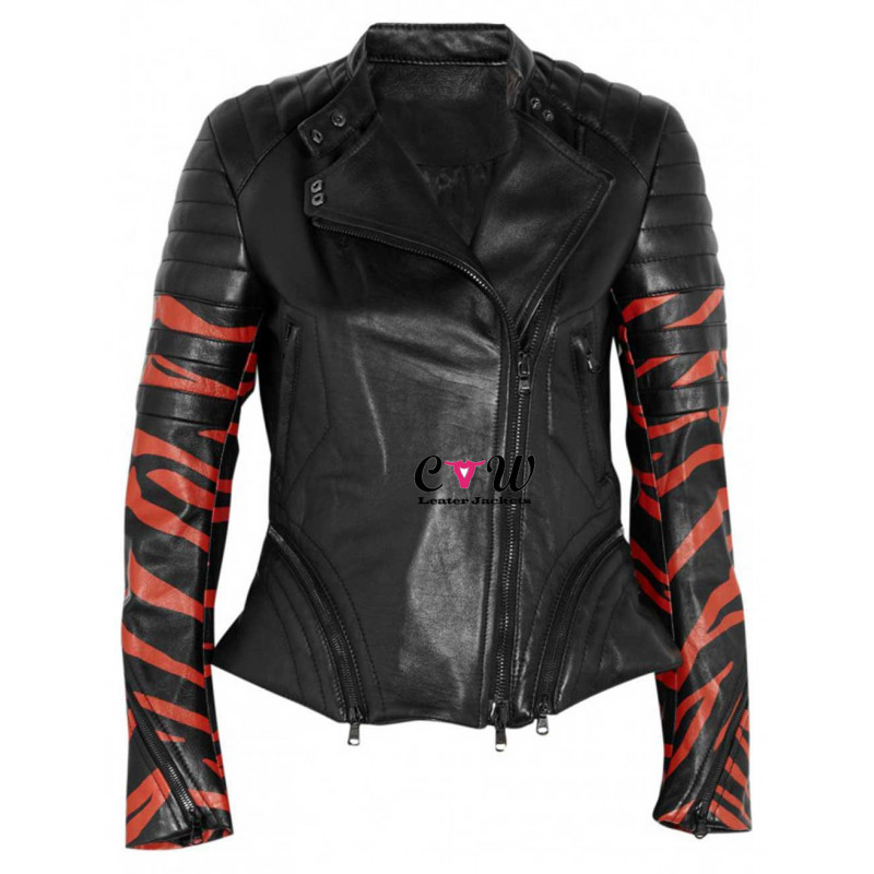 3.1 Phillip Lim Tiger Print Leather Biker Jacket