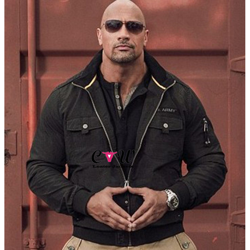 Dwayne Johnson Rock Army Black Jacket