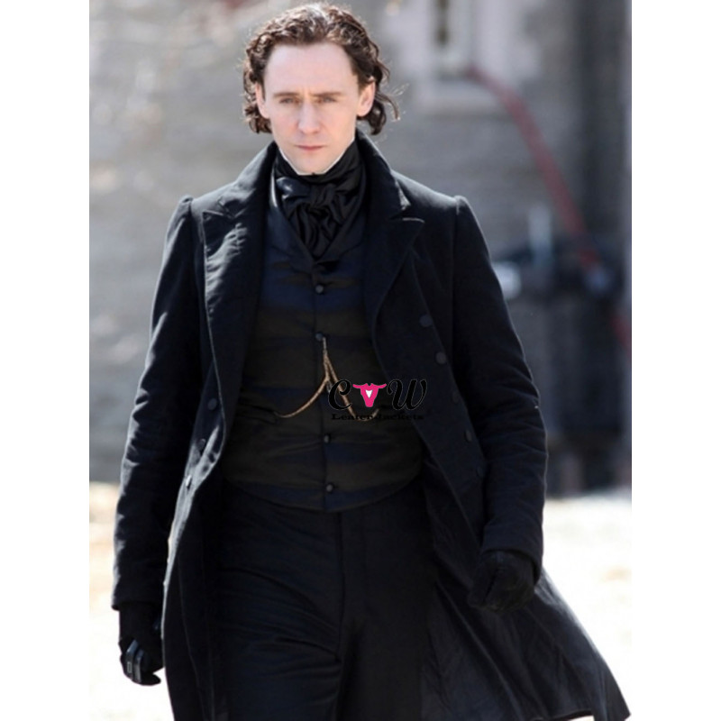 Tom Hiddleston Crimson Peak Thomas Sharpe Black Coat
