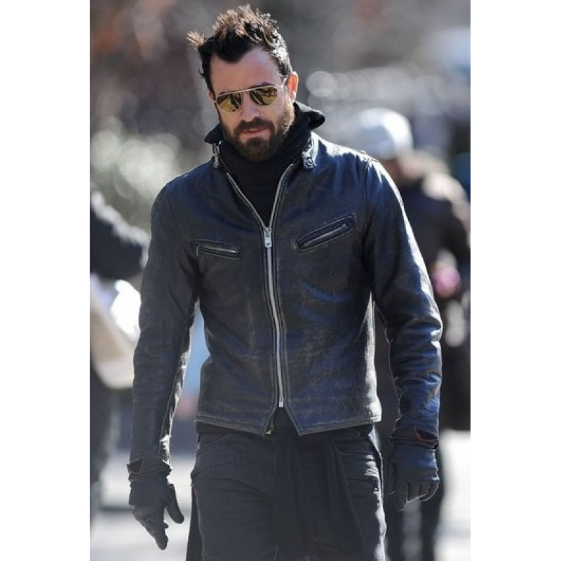JUSTIN THEROUX OUTERWEAR LEATHER JACKET