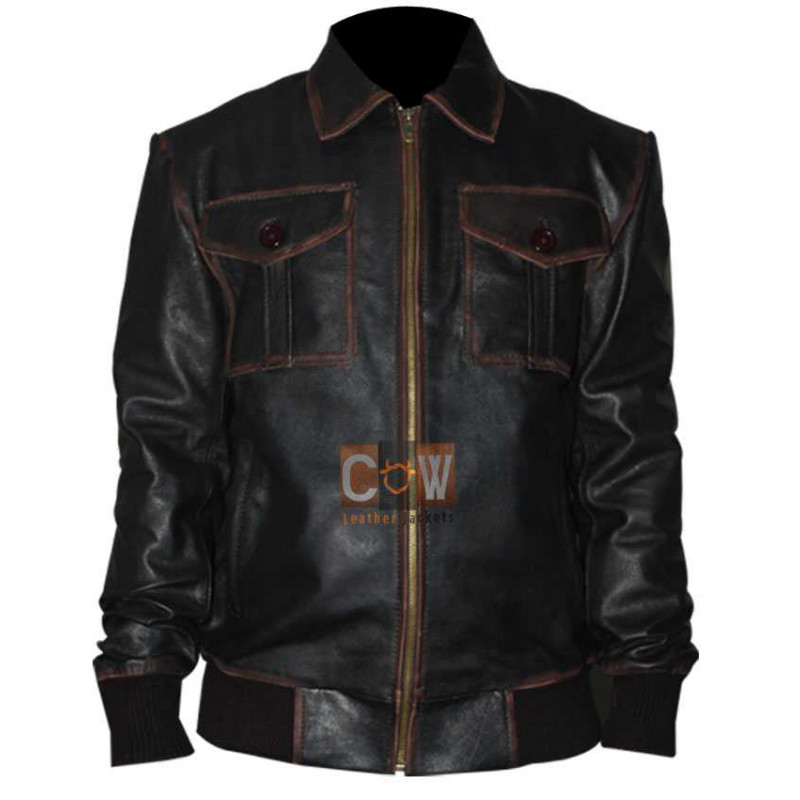 Sheriff Graham Bomber Leather Jacket Once Upon a Time