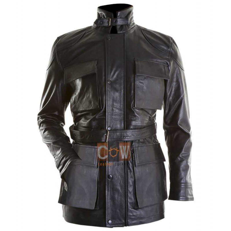 Dark knight Rises Bane Black Coat Genuine Leather Jacket