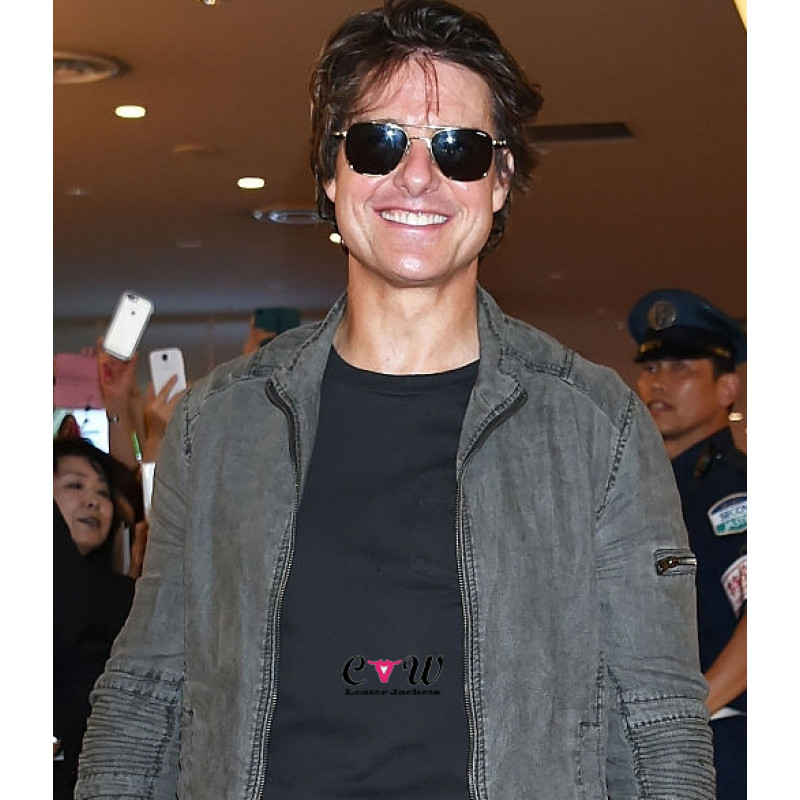 Tom Cruise Mission Impossible Rogue Nation Tokyo Leather Jacket