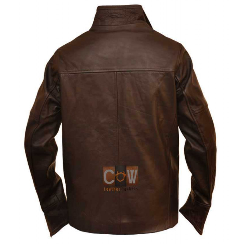 Fashionable Vintage Leather Jacket From Paris with Love John Travolta