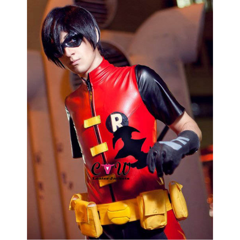Young Justice Robin Cosplay Leather Costume
