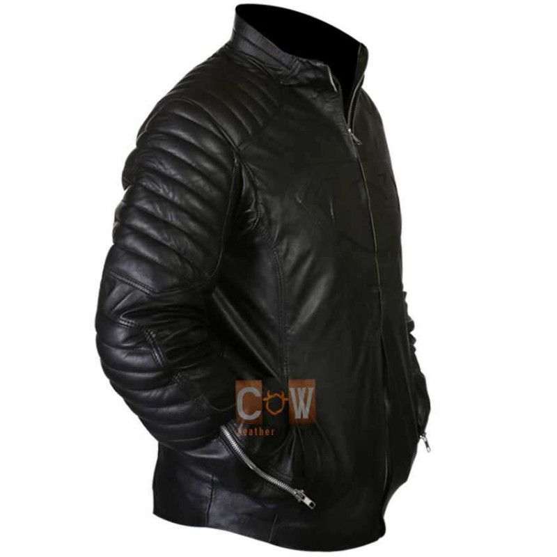 Clark Kent Superman Smallville Black/Red Leather Jacket