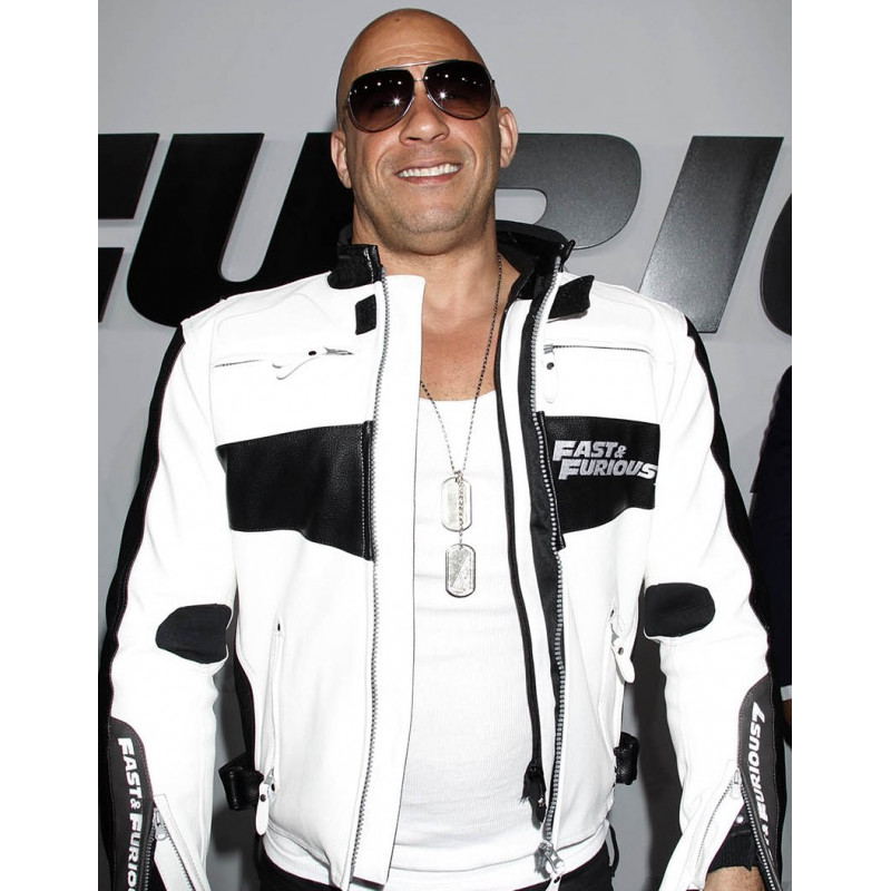Fast And Furious 7 Vin Diesel Blue Leather Jacket