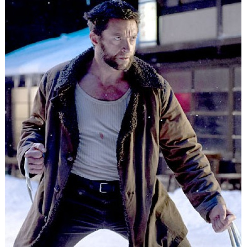 The Wolverine (2013) Brown Trench Fur Coat