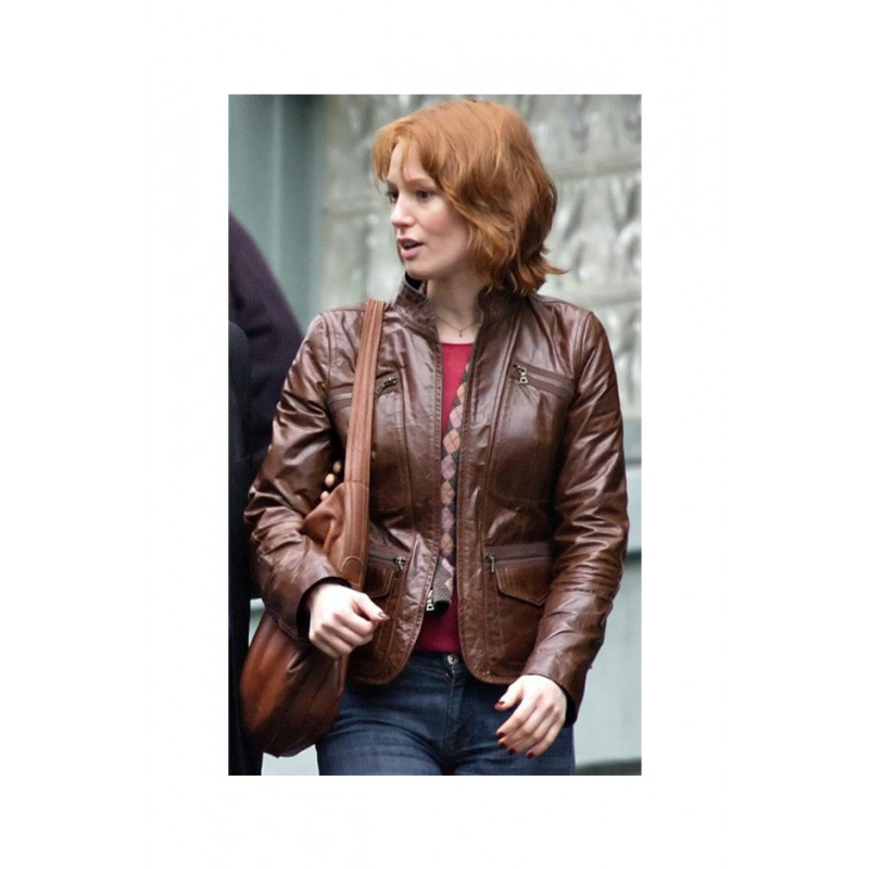 88 Minutes Alicia Witt Slimfit style Leather Jacket