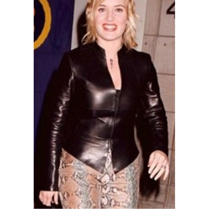 Kate Winslet Brown Leather Jacket