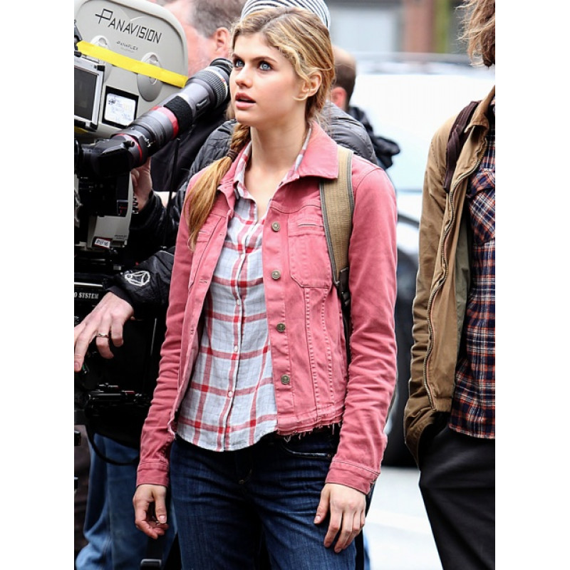 Percy Jackson Sea Of Monsters Alexandra Daddario (Annabeth Chase) Pink Jacket